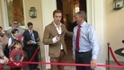 Damien Lewis opens refurbished Aberglasney Mansion