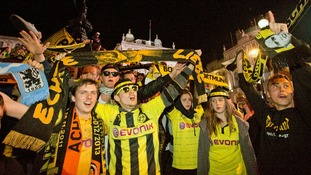 DATE IMPORTED:May 25, 2013Borussia Dortmund fans gather at Piccadilly Circus in London after their team lost 2-1