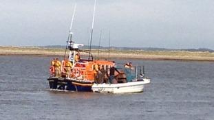 Wells lifeboat in action