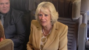 Camilla chats on the Eurostar as she makes her way to Paris for a two-day solo trip.