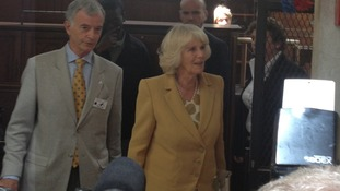 The Duchess of Cornwall arrives in Paris for her first foreign solo trip.