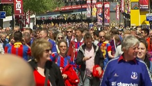 Fans gather ahead of today's Championship play-off