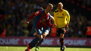 Crystal Palace's Kevin Phillips celebrates scoring