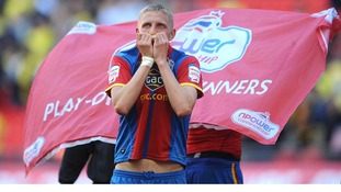 Crystal Palace's Dean Moxey celebrates