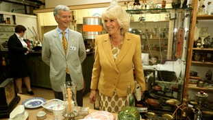 The Duchess tours the workshop of the charity Emmaus