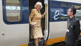 The Duchess of Cornwall arriving at Gare Du Nord station in Paris