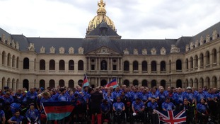 Before the start of the race in Paris