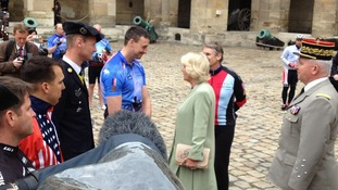 The Duchess of Cornwall meeting with Captain Nick Beighton