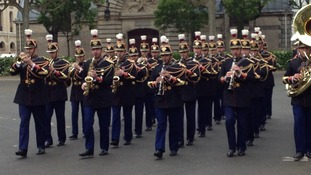 The military ceremony in Paris
