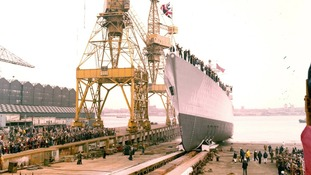 HMS Edinburgh launched