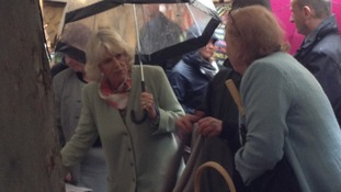 The Duchess of Cornwall at a French market