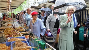 The Duchess of Cornwall visits a market in Paris