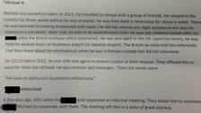 Case notes from Michael Adebolajo's meeting with Cage Prisoners.