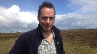 Trevor Dines on Mynydd Cilan