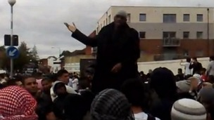 Michael Adebolajo speaking at a demonstration at Harrow Central Mosque in 2009.