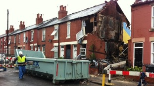 The house destroyed by a suspected gas blast in Tinsley