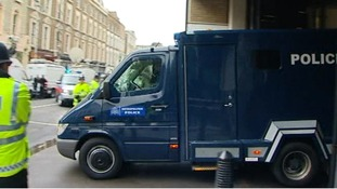 Prison van thought to be carrying Adebowale leaved court