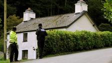 The farmhouse in Ceinws where Mark Bridger lived
