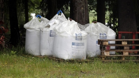 Bags of fertiliser, used by Breivik to create the Olso bomb, 