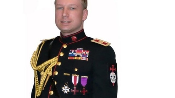 Anders Breivik in his &#x27;Knights Templar&#x27; uniform