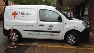City of Lincoln Council's new electric van