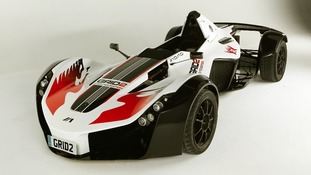 The British-manufactured BAC Mono racing car that comes 'free' with the game