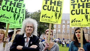 Rock star Brian May will lead today's rally against the Government's plans.