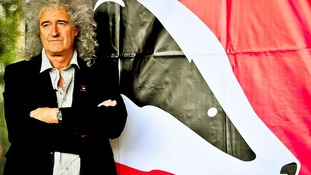 Queen guitarist Brian May pictured at a rally last year.