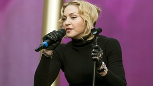 Madonna talks at the Sound of Change concert at Twickenham