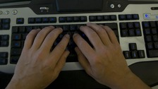 keyboard and hands