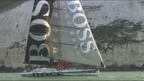 Gosport sailor Alex Thomson and his crew head round the island in a Hugo Boss-sponsored yacht