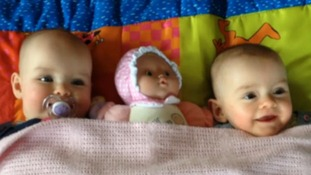World record for twin sisters who were born 87 days apart