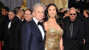 Michael Douglas with his wife Catherine Zeta-Jones