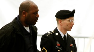 US Army Private First Class, Bradley Manning (right)