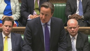 Prime Minister David Cameron pictured gave a statement to the House of Commons.