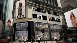 Topshop will open its first shop in China in Hong Kong on 6th June.