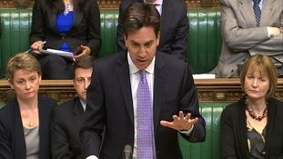 Labour leader Ed Miliband responds to Prime Minister David Cameron's statements to MPs.