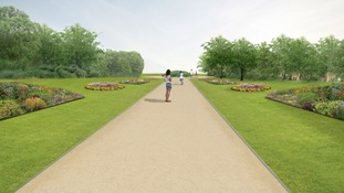 Impression of how Alexandra Park will look following regeneration project
