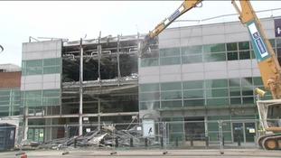 Heathrow Terminal Two under demolition