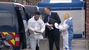 Forensic experts at the scene