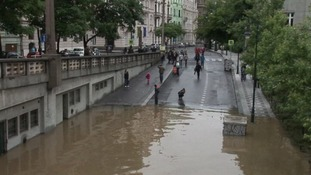 The River Vltava is expected to reach its peak between 8am and Noon this lorning