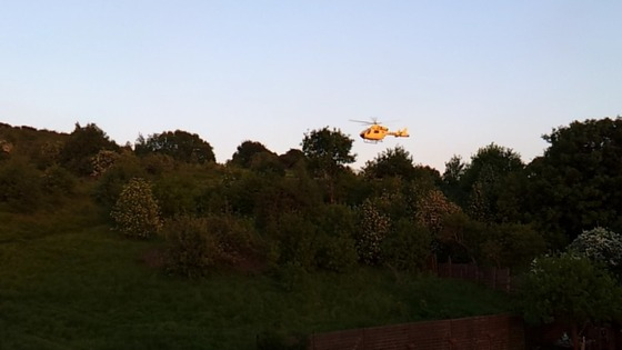 The Yorkshire Air Ambulance scrambled to accident in Batley