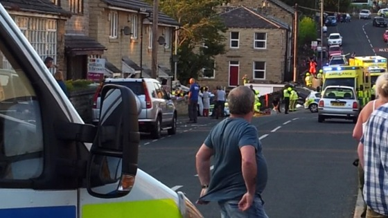 Accident last night in Batley
