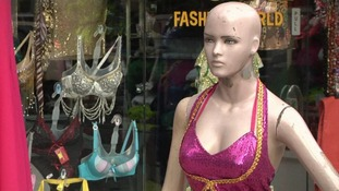 A mannequin in non-regulation attire in Mumbai, India