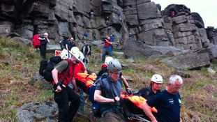 Edale Mountain Rescue Team at Stanage Edge