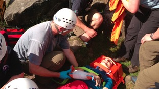 Edale Mountain Rescue Team at Birchen Edge
