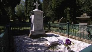 Grave stone in Morpeth