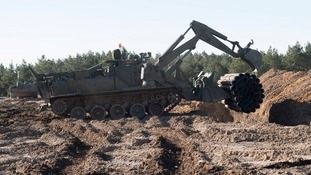 The 'Terrier' military digger