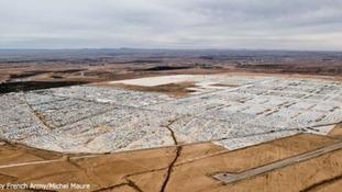 Zaatari refugee camp seen from above
