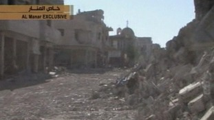 Parts of the town of Qusair have been reduced to rubble after days of intense fighting